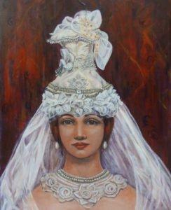 Linda Murray art work portrait of bride