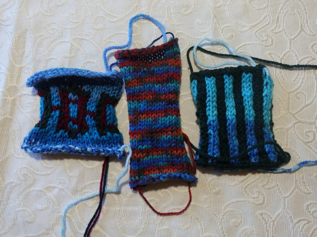 knitting tension swatches