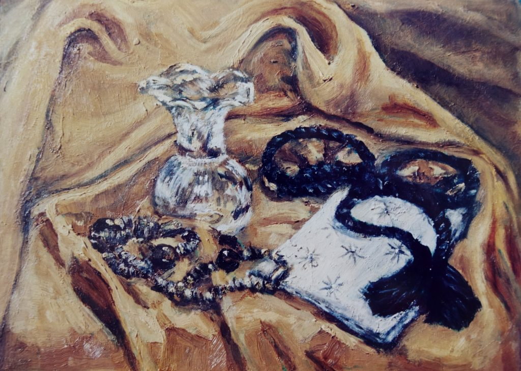 oil painting glass