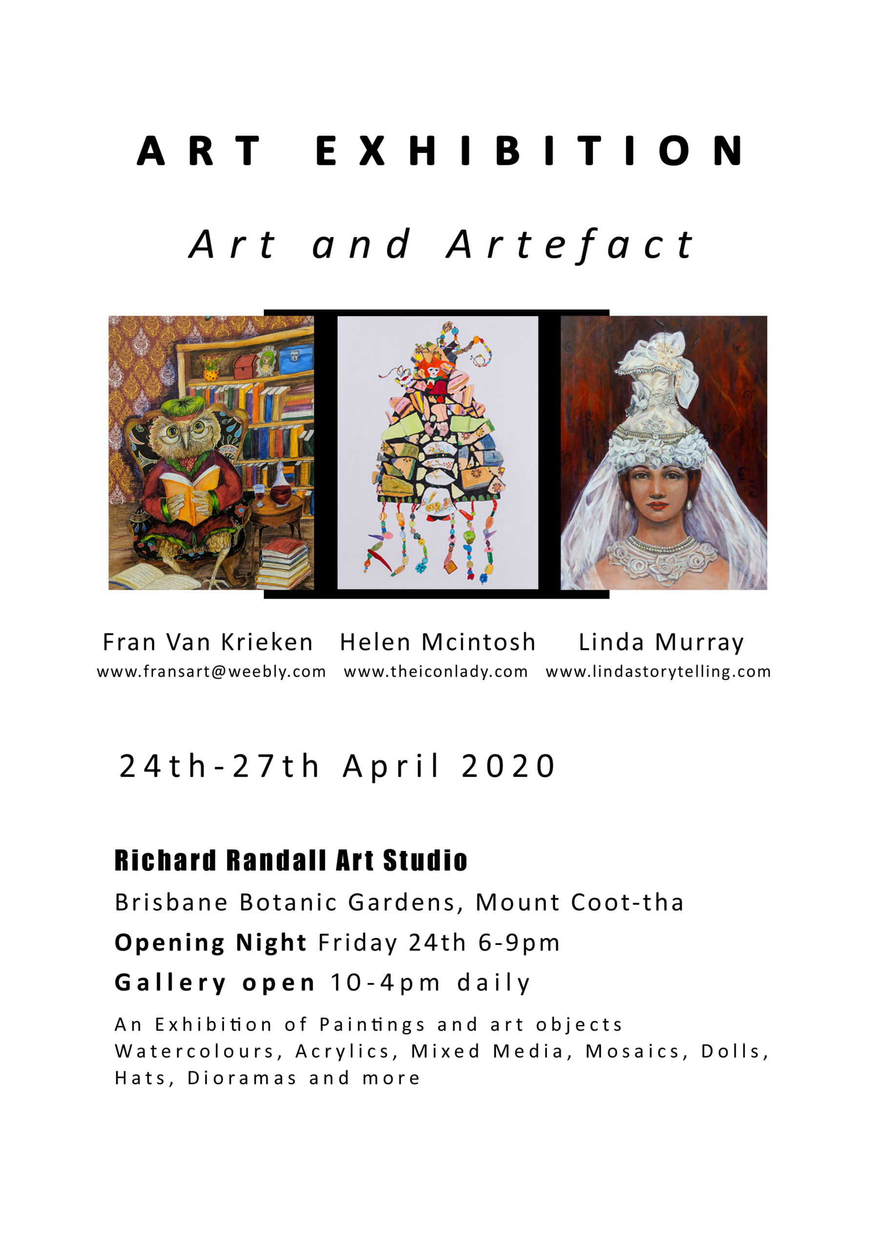 Art exhibition brisbane invite