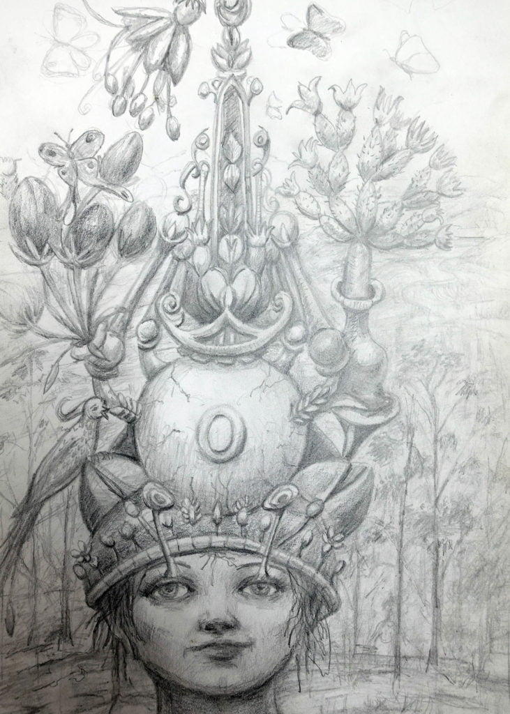 Hat design drawing inspired by Bosch
