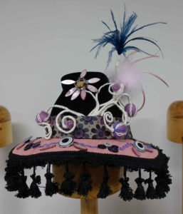 Pink and Black Art Hat