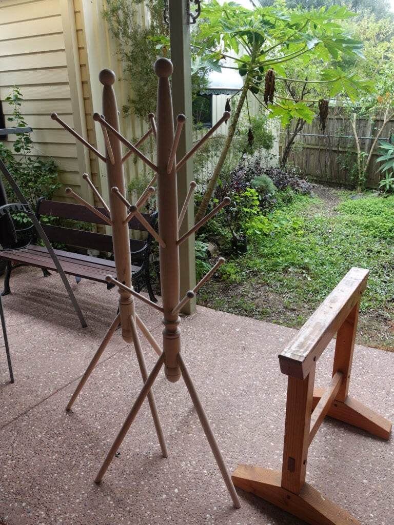 completed hat stands